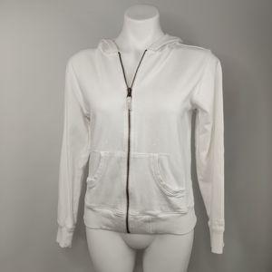 Columbia Jacket Zippered White w/Hood
